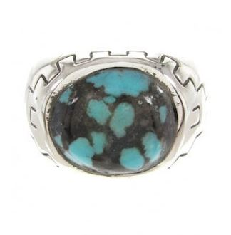Mens Silver Turquoise Rings