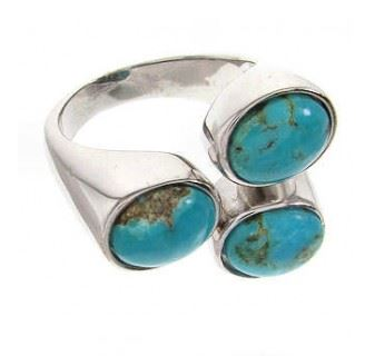 Silver Turquoise Rings Women